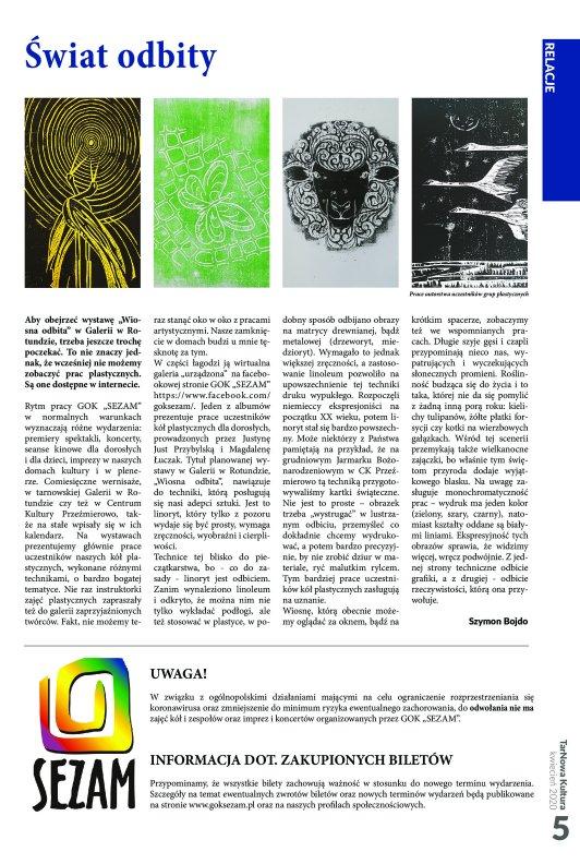 TarNowa Kultura 4/2020 strona 5