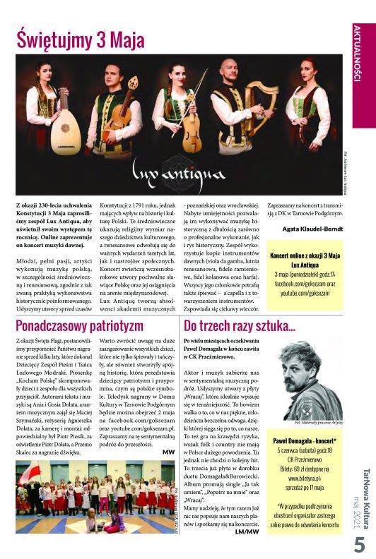 TarNowa Kultura 5/2021 strona 5