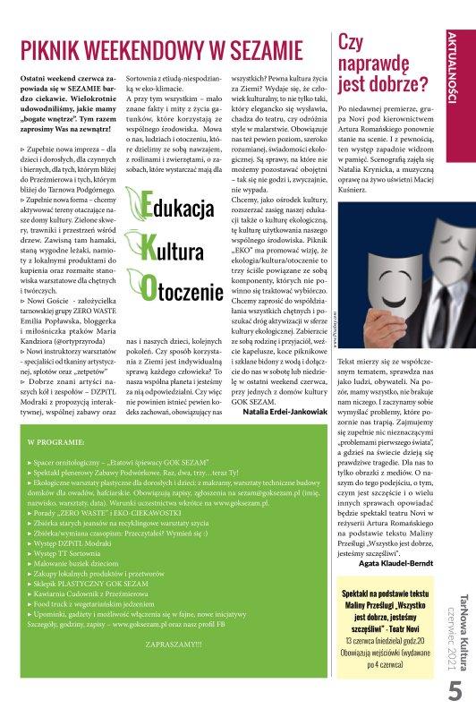 TarNowa Kultura 6/2021 strona 5