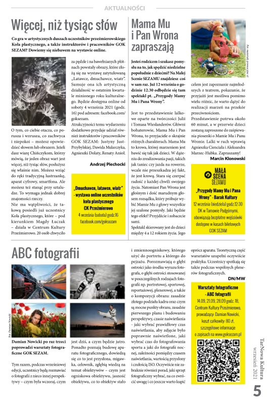 TarNowa Kultura 9/2021 strona 5